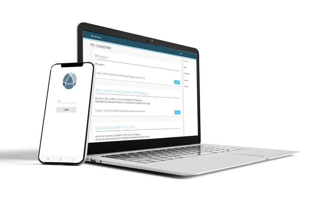 eTrace traceability product processes data laptop smartphone